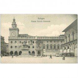 carte postale ancienne Italia. BOLOGNA. Piazza Vittorio Emanuele