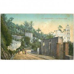 carte postale ancienne ITALIA. Bordighera. Via Charles Garnier 1922