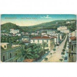 carte postale ancienne ITALIA. Bordighera. Viale Regina Elena 1920