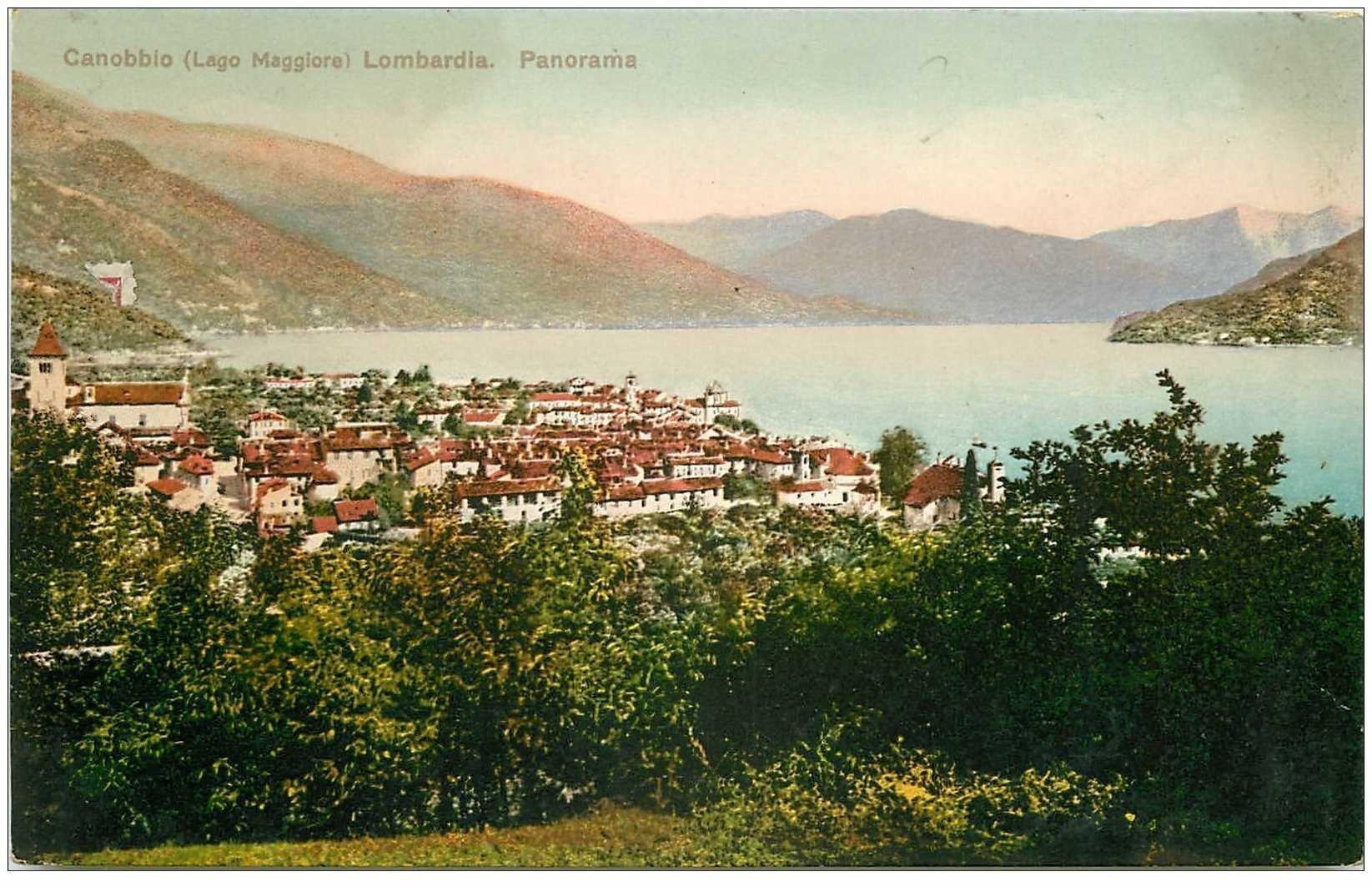 carte postale ancienne ITALIA. Canobbio Lago Maggiore
