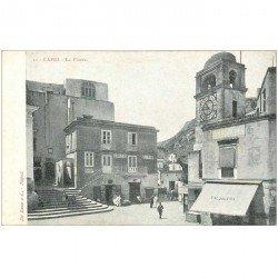 carte postale ancienne Italia. CAPRI. La Piazza verso 1900
