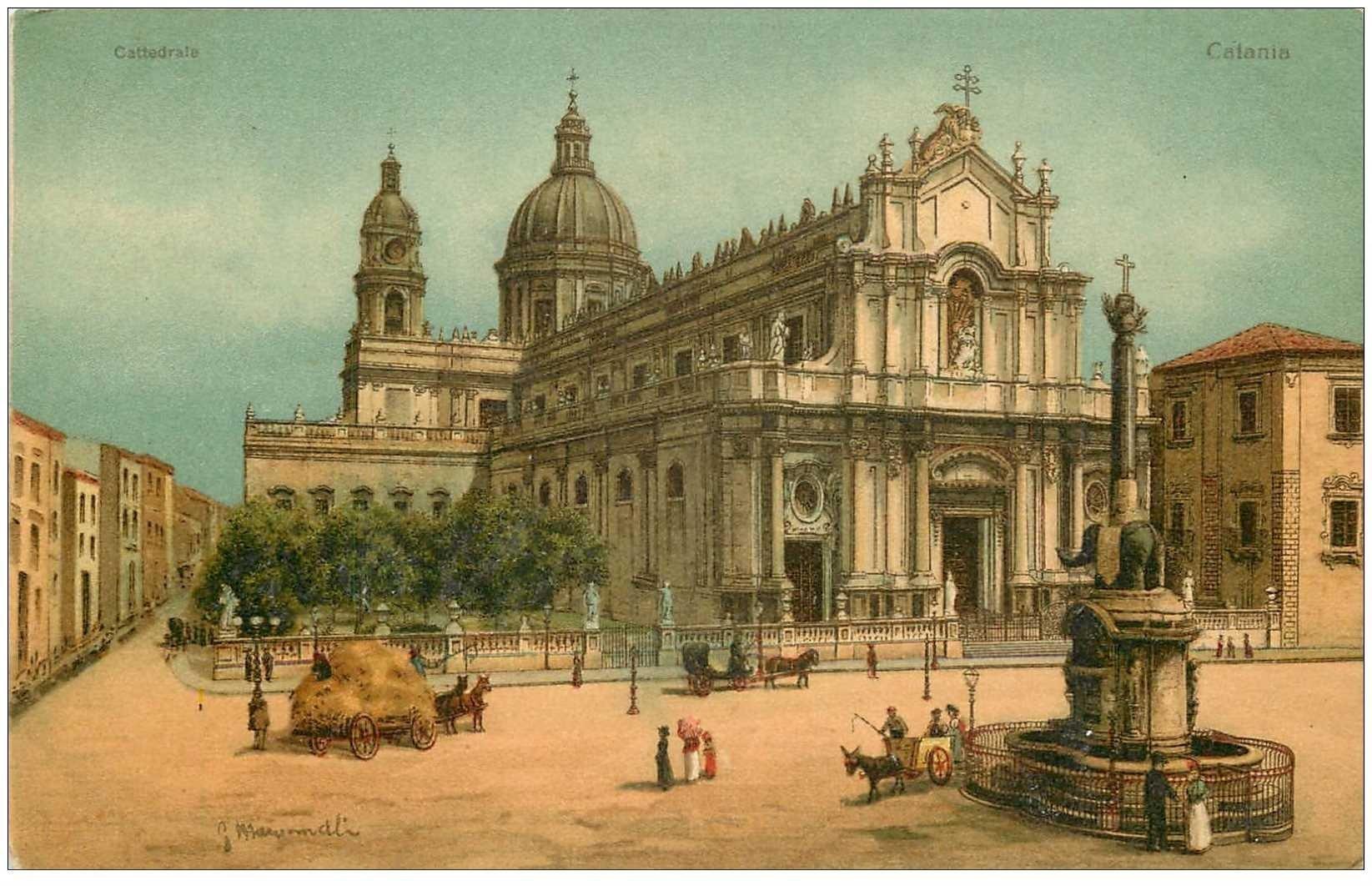 carte postale ancienne Italia. CATANIA. Cattedrale