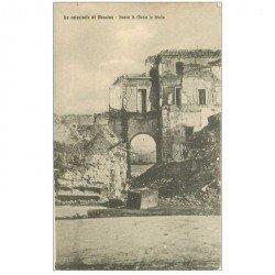 carte postale ancienne ITALIA. Catastrofe di Messina. Scesa S. Maria la Stella 1916