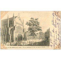 carte postale ancienne 02 NOTRE-DAME-DE-LIESSE. Pelerinage 1903. Papier velin