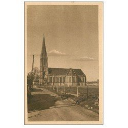 carte postale ancienne 14 SAINT-AUBIN. L'Eglise 1950