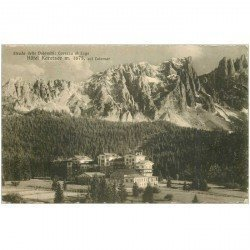 carte postale ancienne ITALIA. Dolomiti. Hôtel Karersee Carezza al Lago 1933