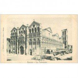carte postale ancienne ITALIA. Ferrara. La Cattedrale verso 1900...