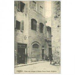 carte postale ancienne ITALIA. Firenze. Casa del Poeta Dante Alighieriverso 1909