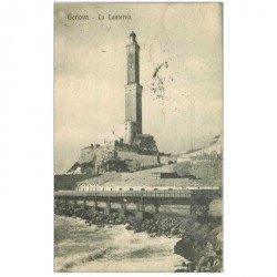 carte postale ancienne ITALIA. Genova. La Lanterna