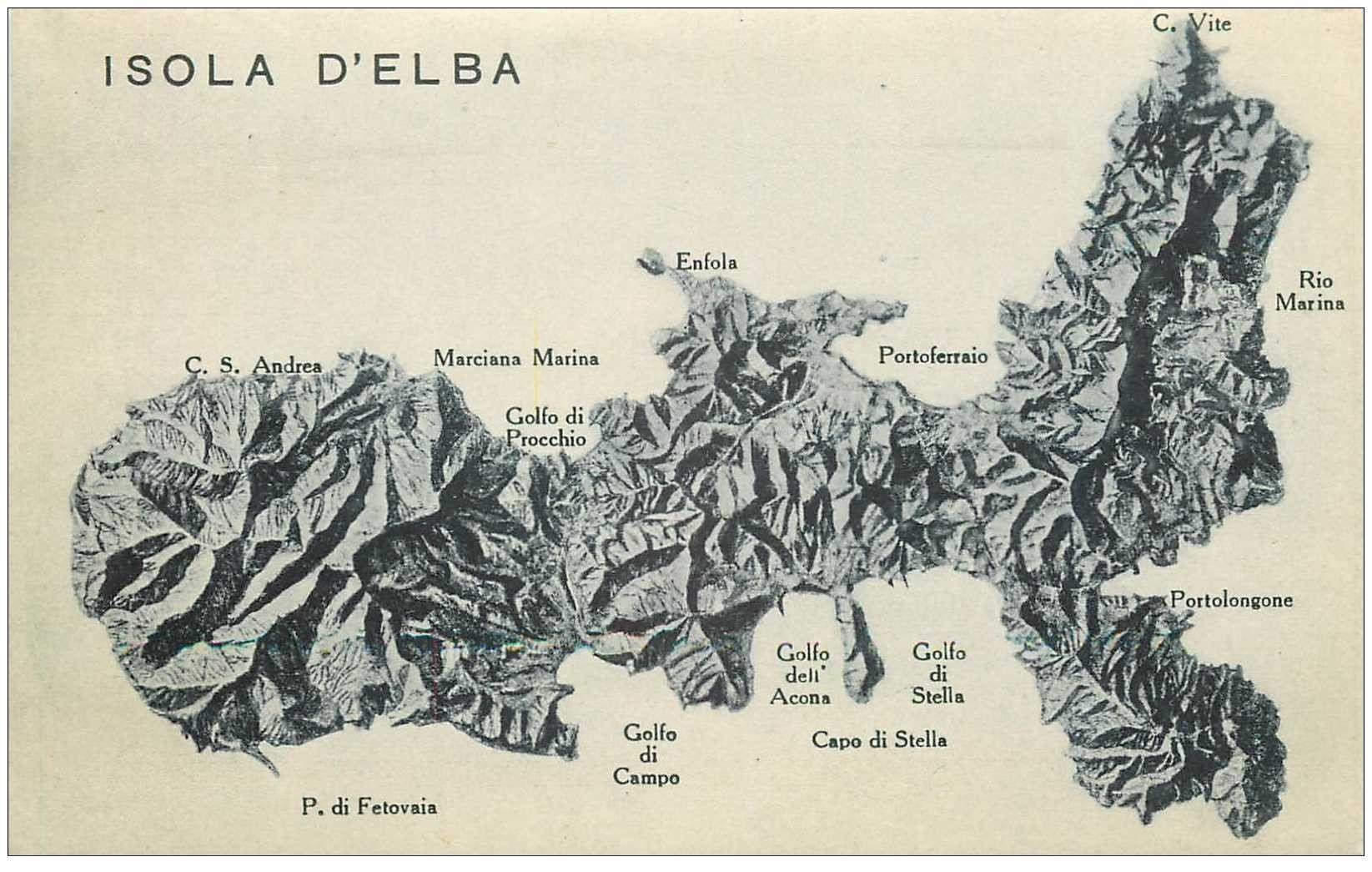 carte postale ancienne Italia. ISOLA D'ELBA