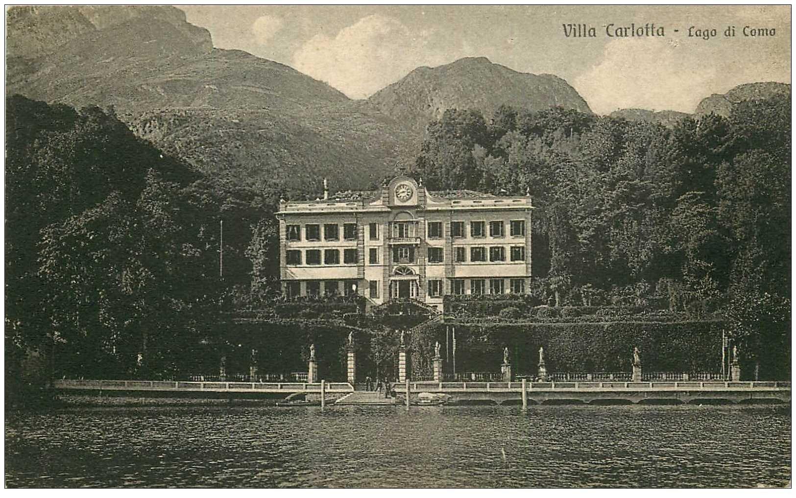 carte postale ancienne ITALIA. Lago di Como Villa Carlotta