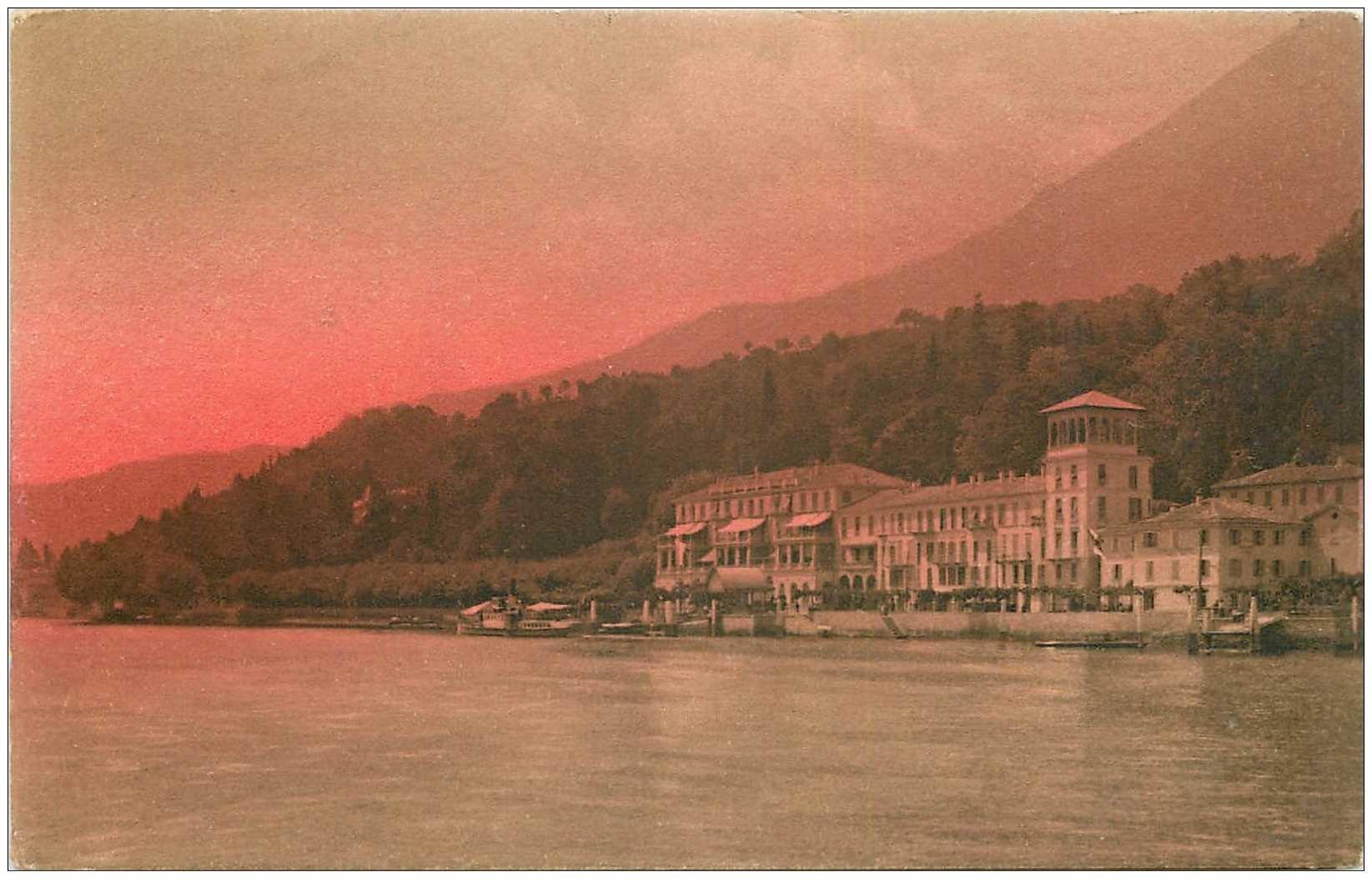carte postale ancienne ITALIA. Lago di Como. Cadenabbia Grand Hôtel Bellevue