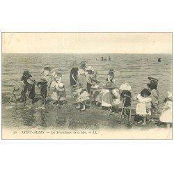 carte postale ancienne 14 SAINT-AUBIN. Les Travailleurs de la Mer 1908