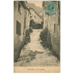 carte postale ancienne Italia. MOLTRASIO. La Cascata 1907