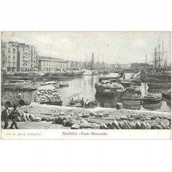 carte postale ancienne Italia. NAPOLI. Porto Mercantile