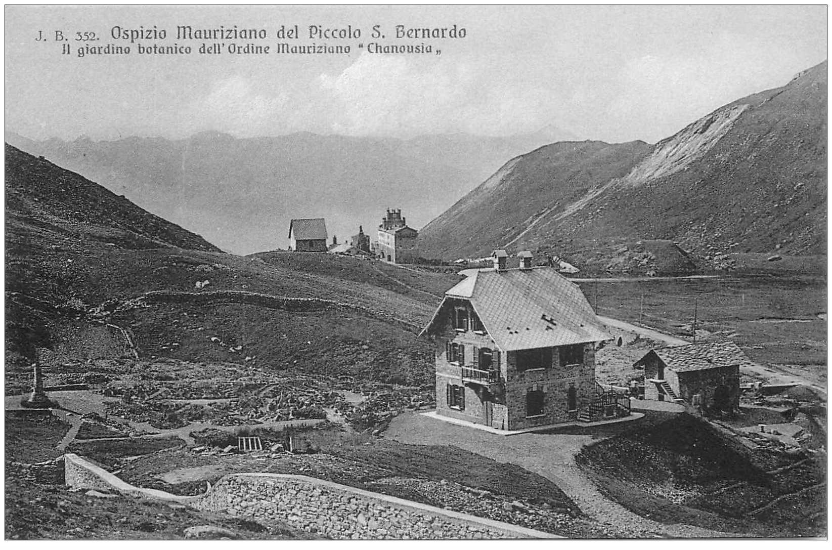 carte postale ancienne Italia. Ospizio Mauriziano del Piccolo S. Bernardo