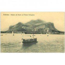 carte postale ancienne ITALIA. Palermo. Porto col Monte Pellegrino