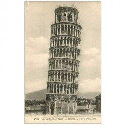 carte postale ancienne Italia. PISA Campanile della Cattedrale o Torre Pendente