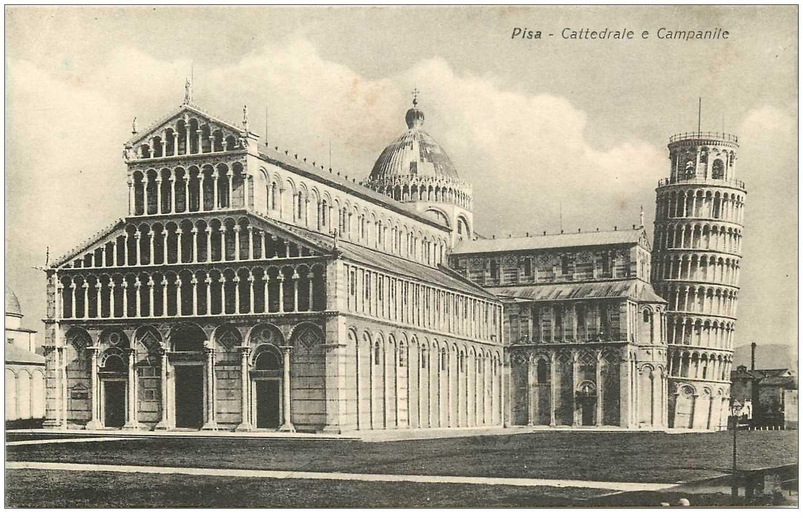 carte postale ancienne ITALIA. Pisa. Cattedrale e Campanile