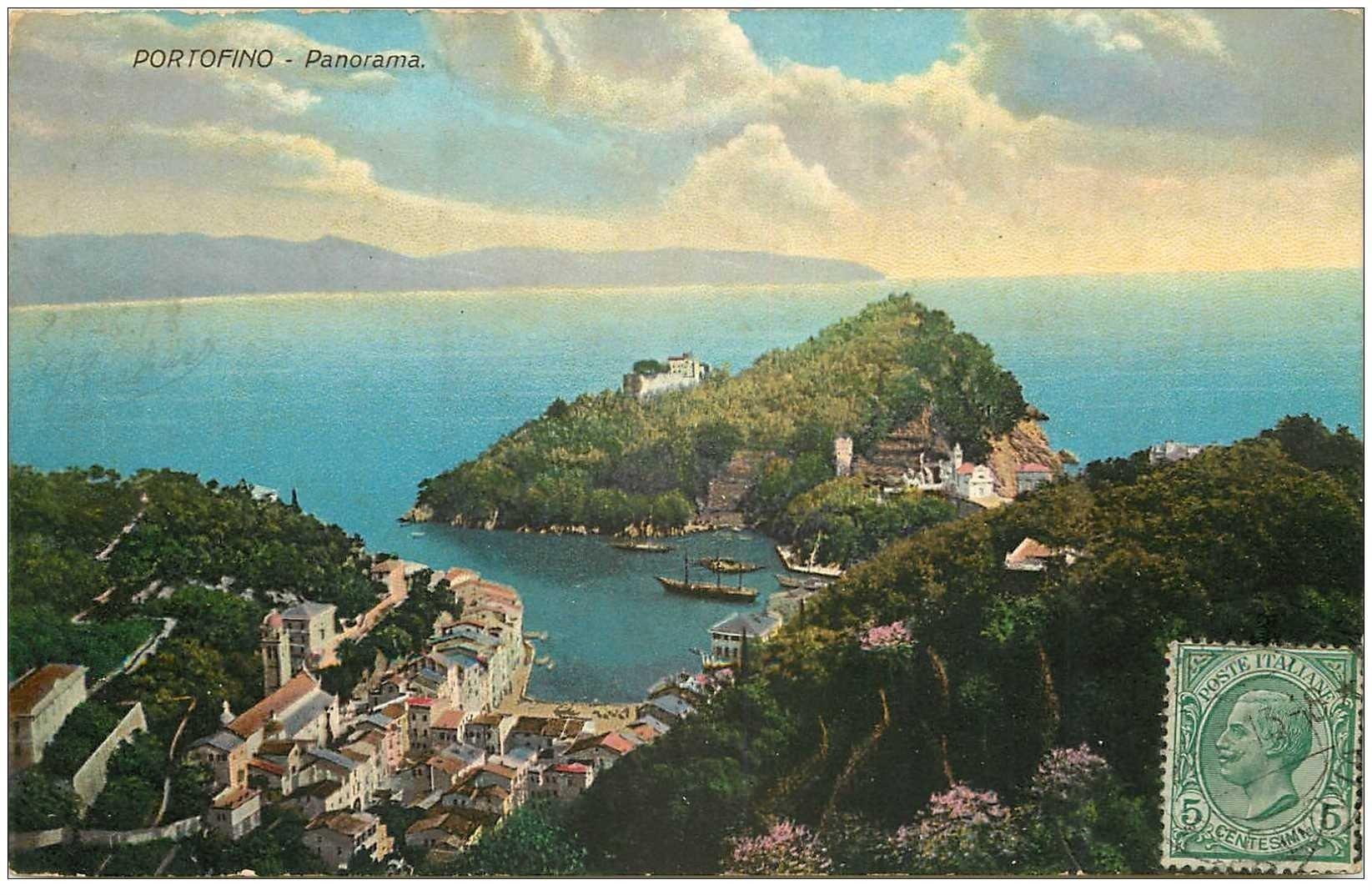 carte postale ancienne ITALIA. Portofino verso 1913