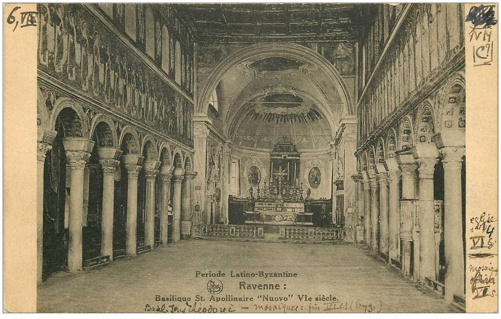carte postale ancienne ITALIA. Ravenne. Basilique St. Apollinaire