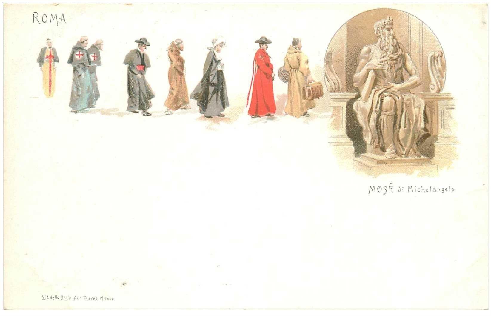 carte postale ancienne ITALIA. Roma. Mosè di Michelangelo