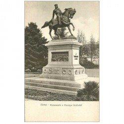 carte postale ancienne Italia. SIENA Monumento Giuseppe Garibaldi