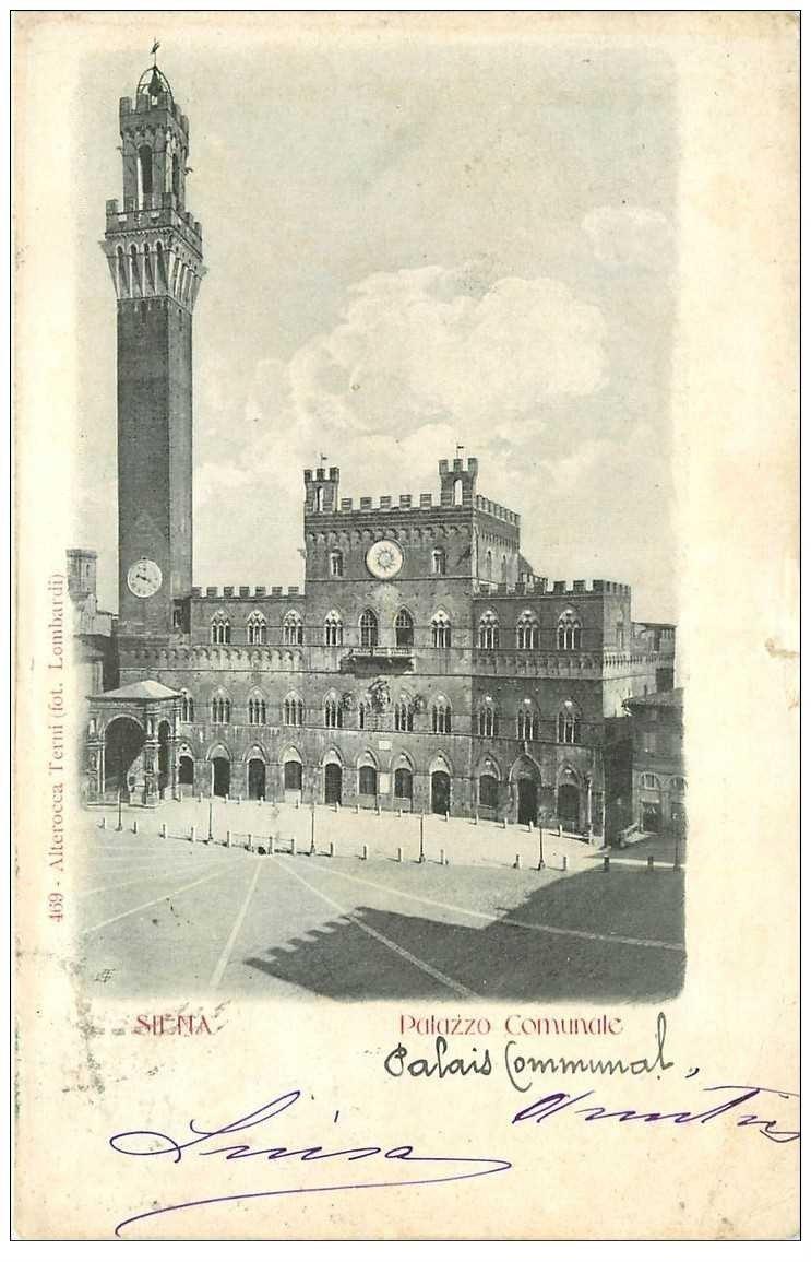 carte postale ancienne ITALIA. Siena. Palazzo Comunale 1902