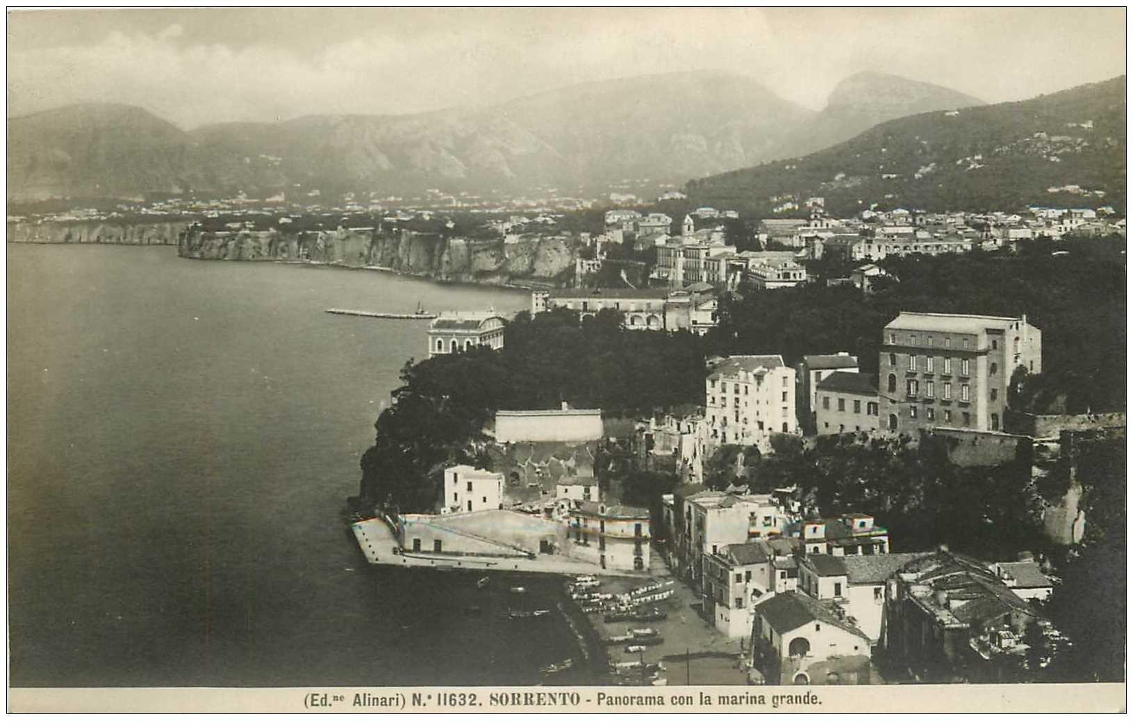 carte postale ancienne Italia. SORRENTO. Marina Grande