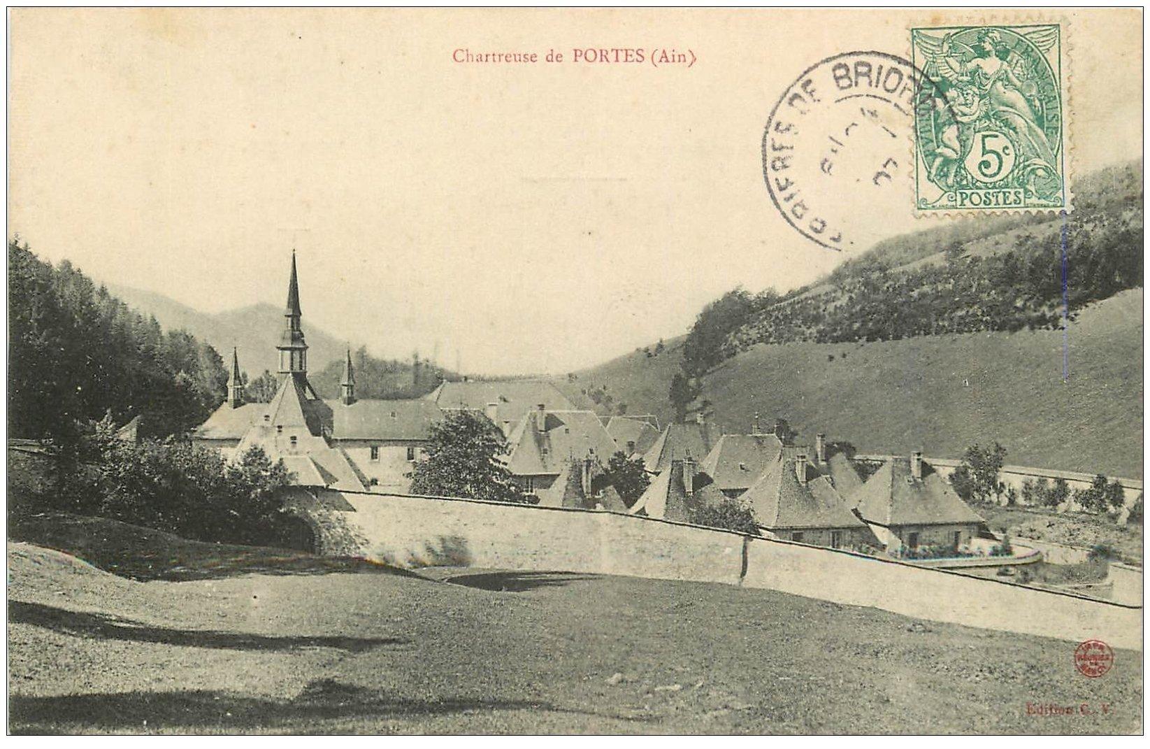 carte postale ancienne 01 Chartreuse de PORTES 1907