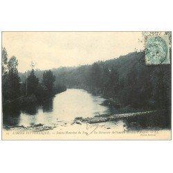 carte postale ancienne 14 SAINTE-HONORINE DU FAY. Déversoir Moulin d'Angers 1905