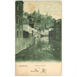 carte postale ancienne LUXEMBOURG. Alzette au Grund