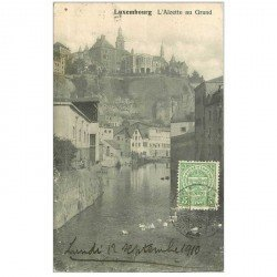 carte postale ancienne LUXEMBOURG. Alzette au Grund 1910
