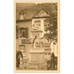 carte postale ancienne Luxembourg. HOUFFALIZE. Monument
