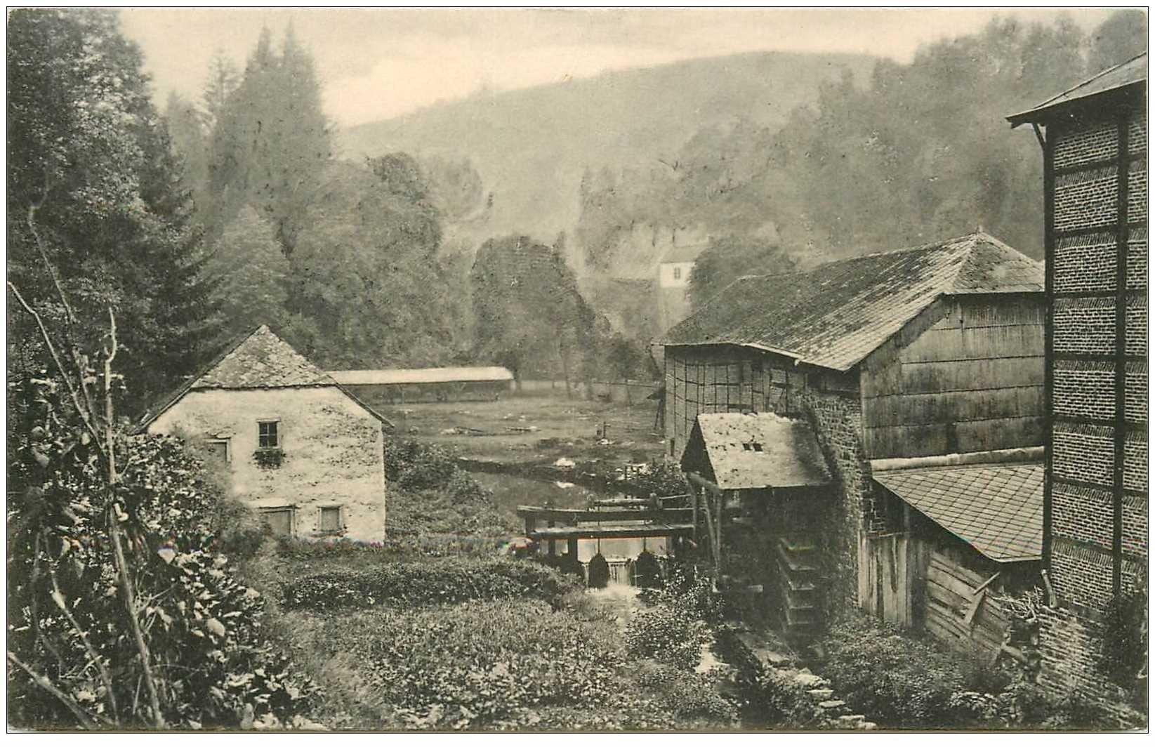 carte postale ancienne Luxembourg. LAROCHE. Moulin des Tanneries