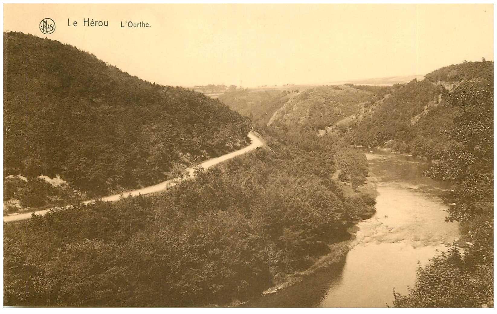 carte postale ancienne LUXEMBOURG. Le Hérou l'Ourthe