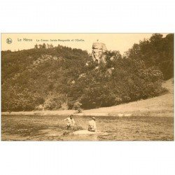 carte postale ancienne Luxembourg. LE HEROU. Cresse Sainte Marguerite et Ourthe animation