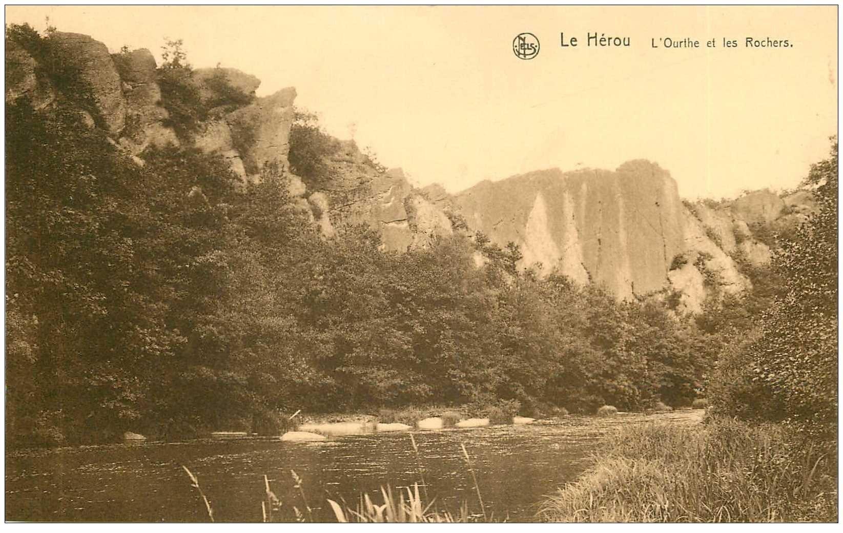 carte postale ancienne LUXEMBOURG. Le Hérou. L'Ourthe et les Rochers