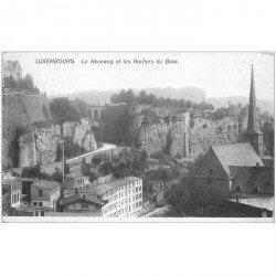 carte postale ancienne LUXEMBOURG. Neueweg et Rochers du Bock