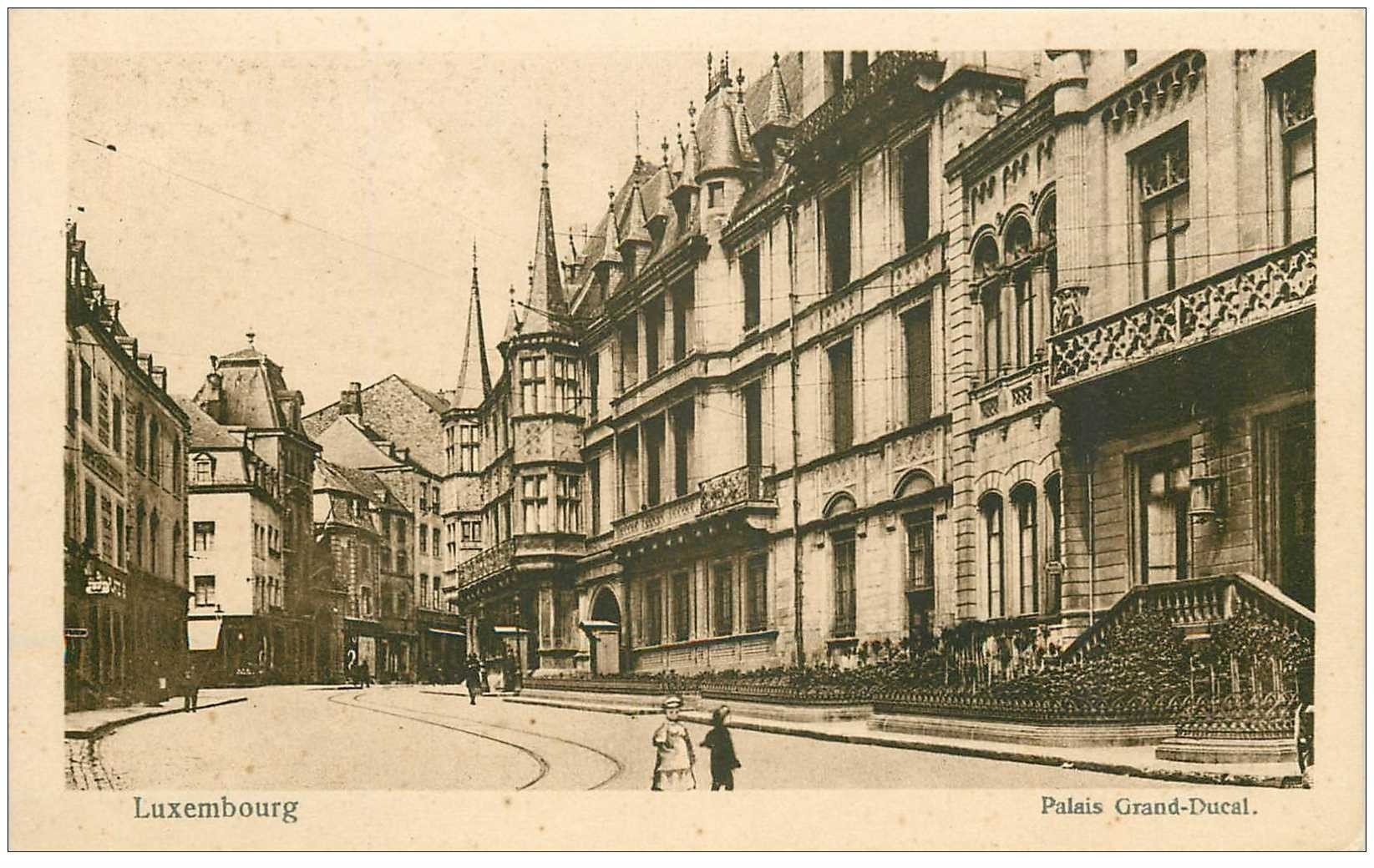 carte postale ancienne LUXEMBOURG. Palais Grand Ducal