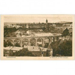carte postale ancienne LUXEMBOURG. Passerelle et Pont Adolphe