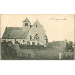 carte postale ancienne 02 OIGNY. L'Eglise 1917