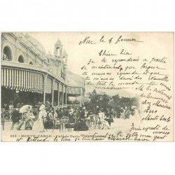 carte postale ancienne MONACO MONTE CARLO. Café de Paris 1902