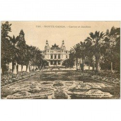 carte postale ancienne MONACO MONTE CARLO. Casino et Jardins