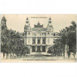 carte postale ancienne MONACO MONTE CARLO. Casino Jardin 1907