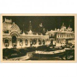 carte postale ancienne MONACO MONTE CARLO. Casino la Nuit par Gilletta