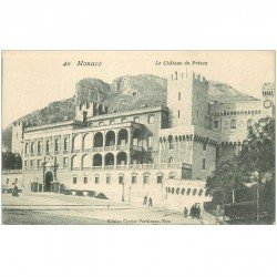 carte postale ancienne MONACO MONTE CARLO. Chteau du Prince