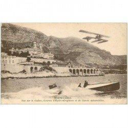 carte postale ancienne MONACO MONTE CARLO. Courses Hydro-aéroplanes et Canots automobiles