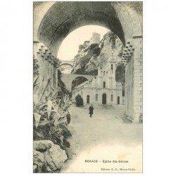 carte postale ancienne MONACO MONTE CARLO. Eglise Sainte Dévote