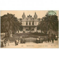 carte postale ancienne MONACO MONTE CARLO. Entrée Casino 1918